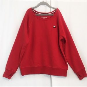 Tommy Hilfiger | Red Embroidered Logo Sweatshirt